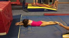 Preteam handstand flatback and backhandspring drill - YouTube