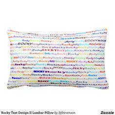 Rocky Text Design II Lumbar Pillow