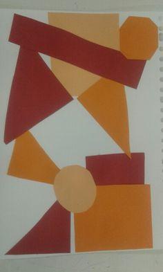 Ik heb dit gemaakt voor school omdat er een verticale horizontale lijn en diagonale lijn in
