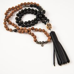 Rock N Roll mala (Sadie Nardini) Sadie Nardini, Tassel Necklace, Beaded Bracelets, Skull And Bones, Leather Tassel, In A Heartbeat, Live For Yourself, Rock N Roll, Dreaming Of You