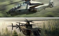 """The US Army has reduced its Future Attack and Reconnaissance (FARA) competition to two contenders. Bell's 360 Invictus and Sikorsky's Raider X have been okayed to proceed to the prototype phase of a new """"knife fighter"""" small assault helicopter. Bell Helicopter, Attack Helicopter, New Aircraft, Military Aircraft, Sikorsky Aircraft, Ah 64 Apache, Aircraft Design, United States Army, Us Army"""