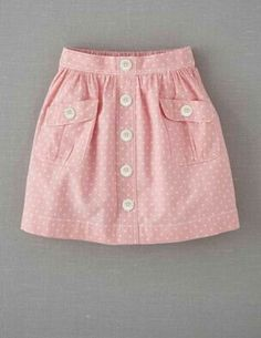 Mini Boden 'Spotty' Chambray Skirt (Little Girls & Big Girls) Fashion Kids, Girl Fashion, Skirts For Kids, Kids Frocks, Girl Dress Patterns, Sewing Patterns, Little Girl Dresses, Baby Dresses, Dresses Dresses