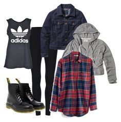 """""""Untitled #21"""" by le-crow on Polyvore featuring adidas, Patagonia, Hollister Co., Dr. Martens and Madewell"""
