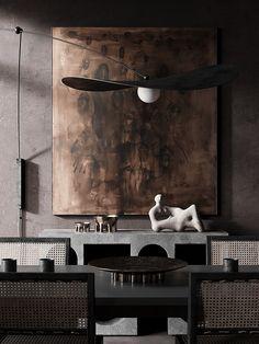 Art Deco Design, Wabi Sabi, Outdoor Living, Chocolate, Interior Design, Architecture, Dark, Painting, Home Decor