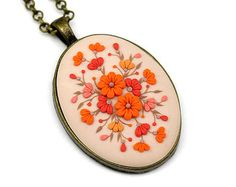 Polymer Clay Jewelry Polymer Clay Necklace Pendant от KittenUmka