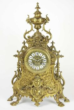Very Ornate Clocks and Watches | French ormolu mantel clock, circa 1870, the ornate tiered…