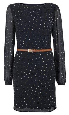 Primark AW12 Belted Chiffon Polka Dress, £13