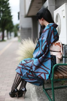 Apartment315 Yukata Kimono, Kimono Japan, Japanese Kimono, Asian Street Style, Japanese Street Fashion, Korean Fashion, Winter Kimono, Summer Kimono, Harajuku Fashion