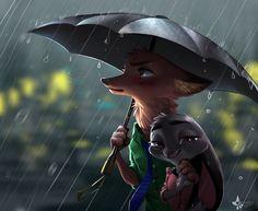 Art of the Day Rainy Days and Rainy Nights – Zootopia News Network Disney Pixar, Walt Disney Characters, Best Disney Movies, Disney And Dreamworks, Disney Art, Pixar Movies, Zootopia Fanart, Zootopia Comic, Nick Wilde