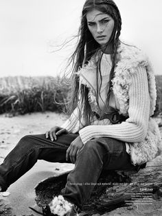 visual optimism; fashion editorials, shows, campaigns & more!: naturbarn: stina olsson by eric josjo for elle sweden november 2014