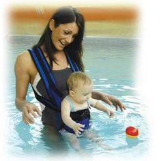 The Original Watertot . carry your baby in the pool Swim Lessons, Everything Baby, Cool Baby Stuff, Kid Stuff, Baby Time, Baby Bumps, Baby Wearing, Baby Fever, Future Baby
