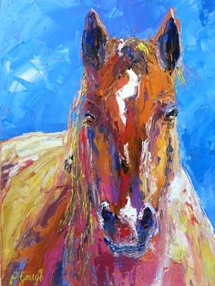 Pauline Gough: Mixed Media Art. www.artfind/... www.mangawhaiarti... © Pauline Gough. This image may not be reproduced or copied in whole or part without prior consent of the owner. All rights reserved.  Brown Beauty 40 x 30cm, acrylic knife painting