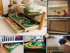 DIY Under the Bed Train Table