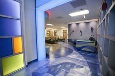 pediatric waiting - laser cut luxury vinyl tile