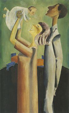Per Krohg, Den lykkelige familie 1917 (The Happy Family 1917 ), Oil on canvas, . Happy Family, Den, Canvas, Painting, Tela, Painting Art, Paintings, Canvases, Drawings