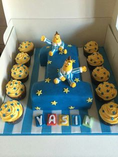 Banana in pajamas Pajama Birthday Parties, Birthday Cake Girls, 4th Birthday, Birthday Ideas, Banana Party, Diy Party, Party Ideas, Banana In Pyjamas, James 1st