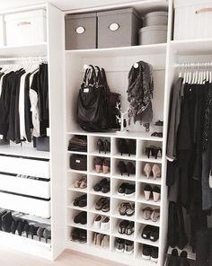 Walk in closet ideas, walk in closet design, walk in closet dimensions, walk in closet systems, small walk in closet organization Closet Walk-in, Master Closet, Closet Storage, Closet Rooms, Ikea Closet, Storage Room, Clothing Storage, Shoe Storage Inside Wardrobe, Shoe Rack In Closet