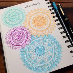 Four Colored Mandalas | maria mercedes trujillo a via Flickr
