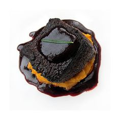 Spice Rubbed Medallions of Venison with Balsamic Blackberry Reduction and Whipped Sweet Potato Puree
