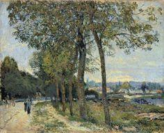 La Seine à Port-Marly Alfred Sisley