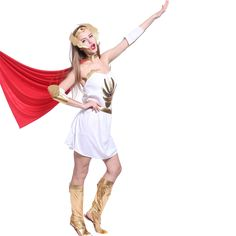 Womens She-Ra Superhero Princess Shera Halloween Costume