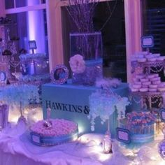 tiffany and company candy table | Tiffany & Co themed candy bar! | Wedding Ideas