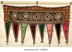 India Rajasthan Crafts Traditional Toran Door Hanging Shisha ...