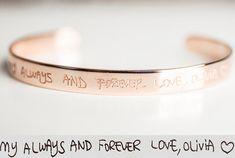 Custom Handwriting Bracelet  Signature by AlyaPersonalized on Etsy