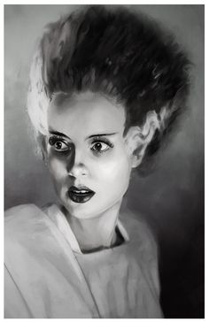 bride of frankenstein artwork deviant Cool Monsters, Horror Monsters, Famous Monsters, Classic Monsters, Beetlejuice, Tv Movie, Frankenstein's Monster, Monster Mash, Dibujos Tattoo