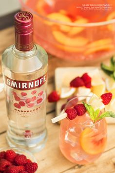 Bring together the whole neighborhood around this sensational Rock the Block Punch drink, the easy and delicious cocktail for any block party, summer rooftop party, or happy hour.  Just mix 1.5 Cups Smirnoff Raspberry, 3 Cups Lemonade, Peaches, and enjoy with 8 block party goers.