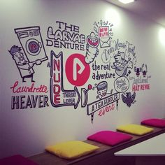 Illustration / The Real Adventure invited me in for some wall doodles, lovely…