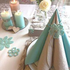Mint og hørfarvet #borddækning #servietter #bordpynt #konfirmation2016 #fest #barnedåb #bryllup