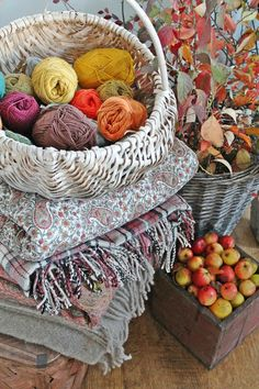 Naturally dyed yarns, fresh from nature's bounty...Autumn inspiration
