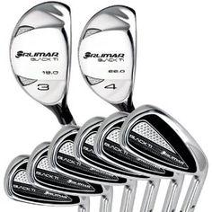 Orlimar Golf Black Ti Hybrid Irons Combo, Set of 8 (3 and 4 Hybrid, 5-PW Steel/Graphite, RH)
