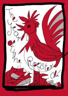 JACQUELINE DITT - Year of the Rooster  limit.Original Grafik sign.Jahr des Hahns