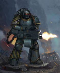 Iron warriors - Iron Havoc by Advisorium on DeviantArt Warhammer 40k Art, Warhammer Models, Warhammer Fantasy, The Horus Heresy, Far Future, Futuristic Art, Marvel, Space Marine, Have Time