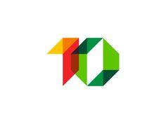 10 1 0 1 o geometric numbers logo design symbol by alex tass