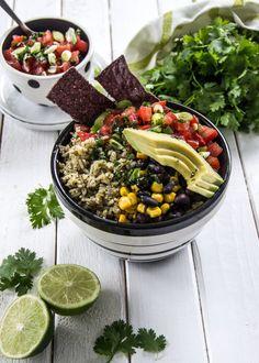 Cilantro Lime Rice Bowl #vegetarian #vegan