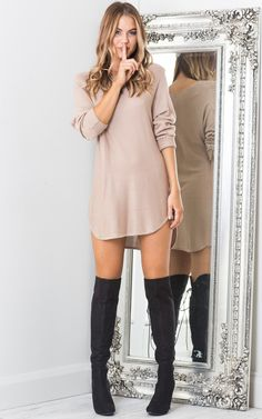 Sweater Dress Outfit Collection 137 comfy sweater dress outfits ideas excellent for this Sweater Dress Outfit. Here is Sweater Dress Outfit Collection for you. Sweater Dress Outfit sweater dress outfit ideas archives fit mommy in heels. Cute Fall Outfits, Winter Fashion Outfits, Fashion Days, Autumn Winter Fashion, Stylish Outfits, Girl Fashion, Womens Fashion, Sweater Dress Outfit, Dress Outfits