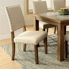 Furniture of America CM3531SC-2PK Melston I Side Chair (Set of 2)