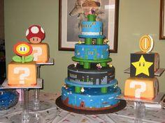A lot of awesome Super Mario Cakes. A lot of awesome Super Mario Cakes. Mario Birthday Cake, Super Mario Birthday, Super Mario Party, Nerd Birthday, Happy Birthday, Birthday Cakes, Birthday Ideas, Bolo Do Mario, Bolo Super Mario