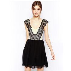 Lace Elegant Black Dress