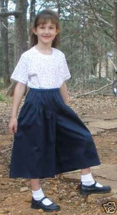 Modest Girls Split Skirt Culottes on Ebay