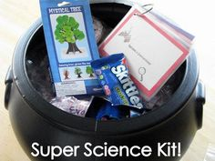 Science kit  Bobbing for Raisins  Wriggle Worms  Soapy Froth  Rocket Bottle  Runaway Pepper  Flarp  Invisible Ink  Shiny Coins