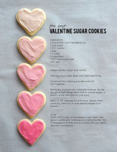 The Best Valentine Sugar Cookies The best Valentine sugar cookie recipe on aliceandlois.com – Alice and Lois