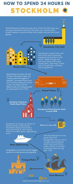 24 Hours in Stockholm - How to Spend 24 Hours in Stockholm City - Best spend a full day in Stockholm #Stockholmin24hours #stockholminfogrphic #infographicstockholm