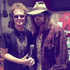 With brother Billy Ray Cyrus in the studio. We recorded a beautiful song. Love is the answer...