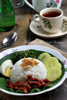 Nasi Lemak Best Rice Recipe, Rice Recipes, Recipe Folder, Malay Food, Nasi Lemak, Malaysian Food, Indonesian Food, Borneo, The Dish