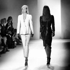 Faces of New York Fashion Week New York Fashion, Ss, Calvin Klein, Runway, Faces, Black And White, Cat Walk, Walkway, Black N White