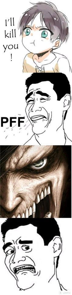 67 Ideas Funny Anime Memes Attack On Titan Jokes Anime Meme, Anime Ai, Funny Anime Pics, Anime Manga, Attack On Titan Meme, Attack On Titan Fanart, Aot Gifs, Funny Images, Funny Pictures